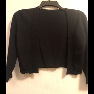 Gorgeous black cropped sweater by WHBM